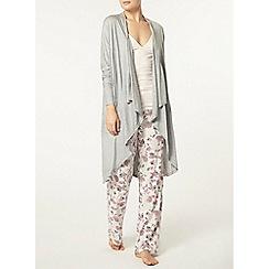 Dorothy Perkins - Loungewear grey waterfall cardigan