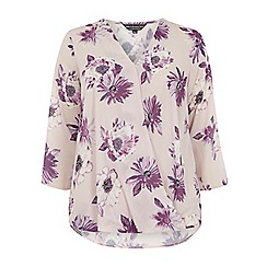 Dorothy Perkins - Billie curve blush floral wrap blouse