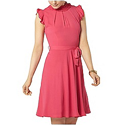 Dorothy Perkins - Blush ruffle neck dress