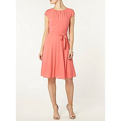 Dorothy Perkins - Billie and blossom coral fit and flare dress