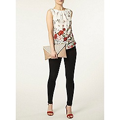 Dorothy Perkins - Billie & blossom ivory poppy print shell top