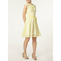 Dorothy Perkins - Billie and blossom yellow spot dress