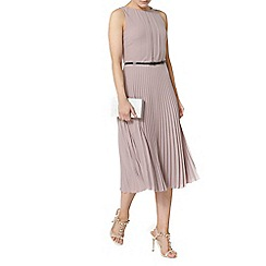 Dorothy Perkins - Billie and blossom taupe pleated midi dress