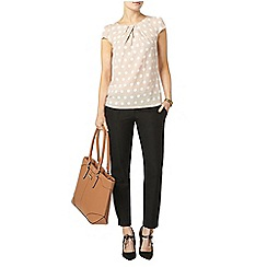 Dorothy Perkins - Taupe spot shell blouse