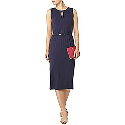 Dorothy Perkins - Billie and blossom navy knot detail midi dress