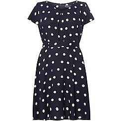 Dorothy Perkins - Billie curve navy spot dress