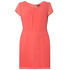 Dorothy Perkins - Billie curve coral chiffon soft dress