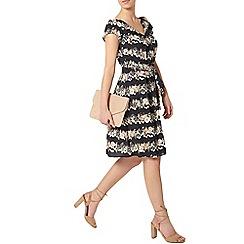 Dorothy Perkins - Billie petites navy floral v neck dress