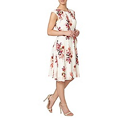 Dorothy Perkins - Billie petites white floral chiffon dress
