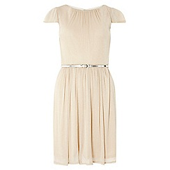 Dorothy Perkins - Billie and blossom neutral fit and flare dress
