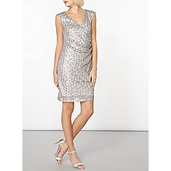 Dorothy Perkins - Billie and blossom silver sequin midi dress