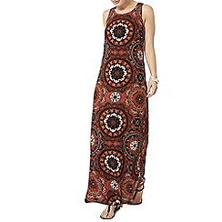 Dorothy Perkins - Orange tribal maxi dress