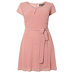 Dorothy Perkins - Billie curve pale pink fit and flare dress