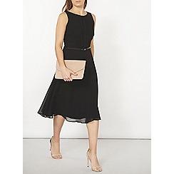 Dorothy Perkins - Billie and blossom black chiffon midi dress