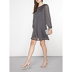Dorothy Perkins - Billie and blossom charcoal glitter a-line dress