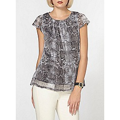 Dorothy Perkins - Billie and blossom silver snake printed shell top