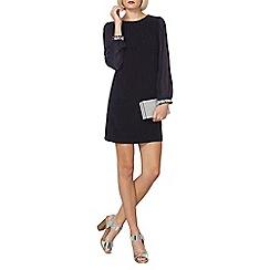 Dorothy Perkins - Billie and blossom navy embellished cuff dress