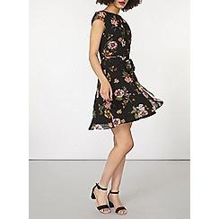 Dorothy Perkins - Black floral chiffon dress
