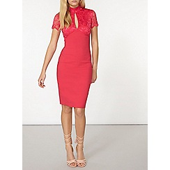 Dorothy Perkins - Scarlett b pink holly lace dress