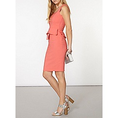Dorothy Perkins - Coral vicky  peplum dress