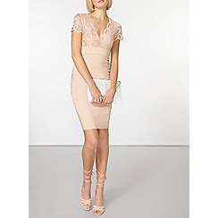 Dorothy Perkins - Scarlett b nude chloe bodycon dress