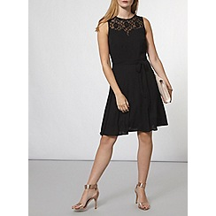 Dorothy Perkins - Billie and blossom black lace insert dress
