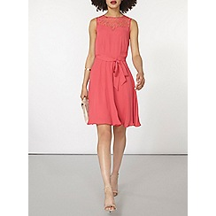 Dorothy Perkins - Coral lace insert dress