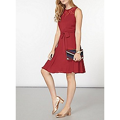 Dorothy Perkins - Billie and blossom rasberry lace insert dress