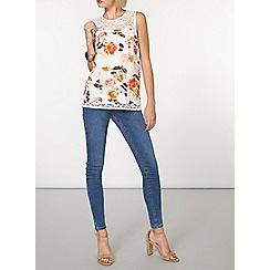 Dorothy Perkins - Billie and blossom white floral lace blouse