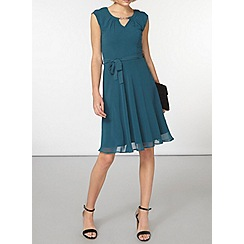 Dorothy Perkins - Billie and blossom green chiffon belt dress