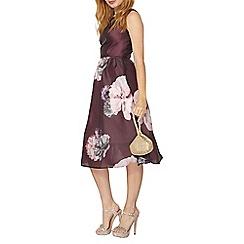 Dorothy Perkins - Luxe merlot bloom prom dress