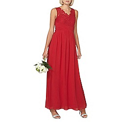 Dorothy Perkins - Showcase red v-neck maxi dress