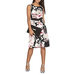 Dorothy Perkins - Luxe black multi floral prom dress