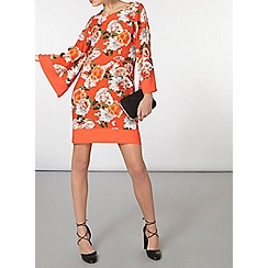 Dorothy Perkins - Billie and blossom orange floral kimono tunic