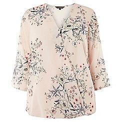 Dorothy Perkins - Dp curve floral wrap blouse