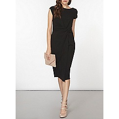 Dorothy Perkins - Luxe black ruched crepe dress