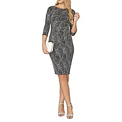 Dorothy Perkins - Silver glitter bodycon dress