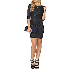 Dorothy Perkins - Billie black label black glitter mini dress