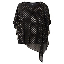 Dorothy Perkins - Billie and blossom curve gold spot chiffon top