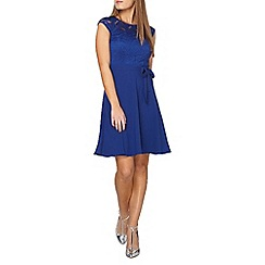 Dorothy Perkins - Billie and blossom petite royal blue lace dress