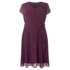 Dorothy Perkins - Billie and blossom curve purple chiffon dress
