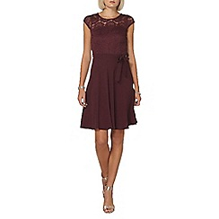 Dorothy Perkins - Billie and blossom mulberry lace insert dress