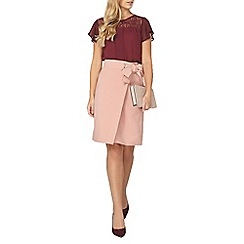 Dorothy Perkins - Billie and blossom mulberry lace insert top