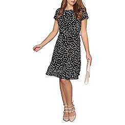 Dorothy Perkins - Billie and blossom petite black spotted fit and flare dress
