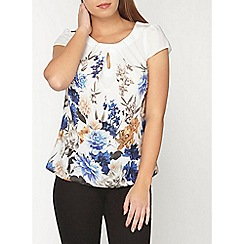 Dorothy Perkins - Billie and blossom petite white border shell top