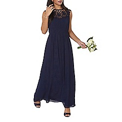 Dorothy Perkins - Showcase navy lila corded maxi dress