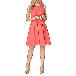 Dorothy Perkins - Showcase coral grace prom dress