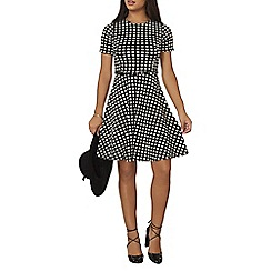 Dorothy Perkins - Billie and blossom stone grid jaquard dress