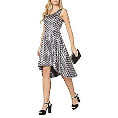 Dorothy Perkins - Luxe silver spot jaquard dress
