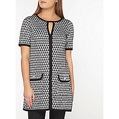 Dorothy Perkins - Billie and blossom petite mono jaquard tunic